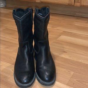 Harley Davidson black leather boots size 7.5